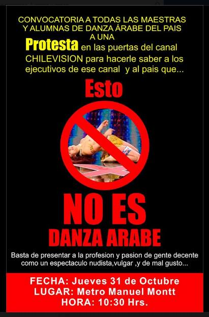 Chilean Protest against Vulgar Dancer